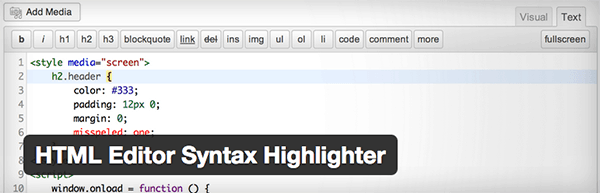 plugin-html-editor-syntax-highlighter