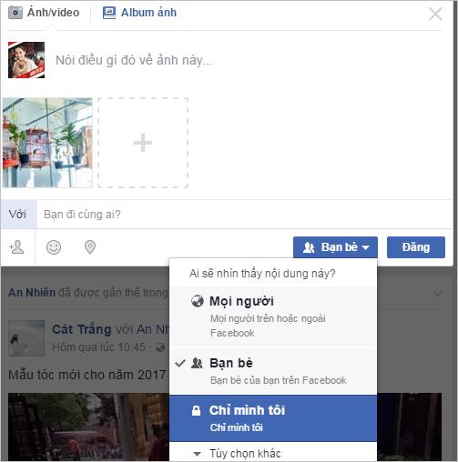 Thiết lập quyền riêng tư cho ảnh trên Facebook