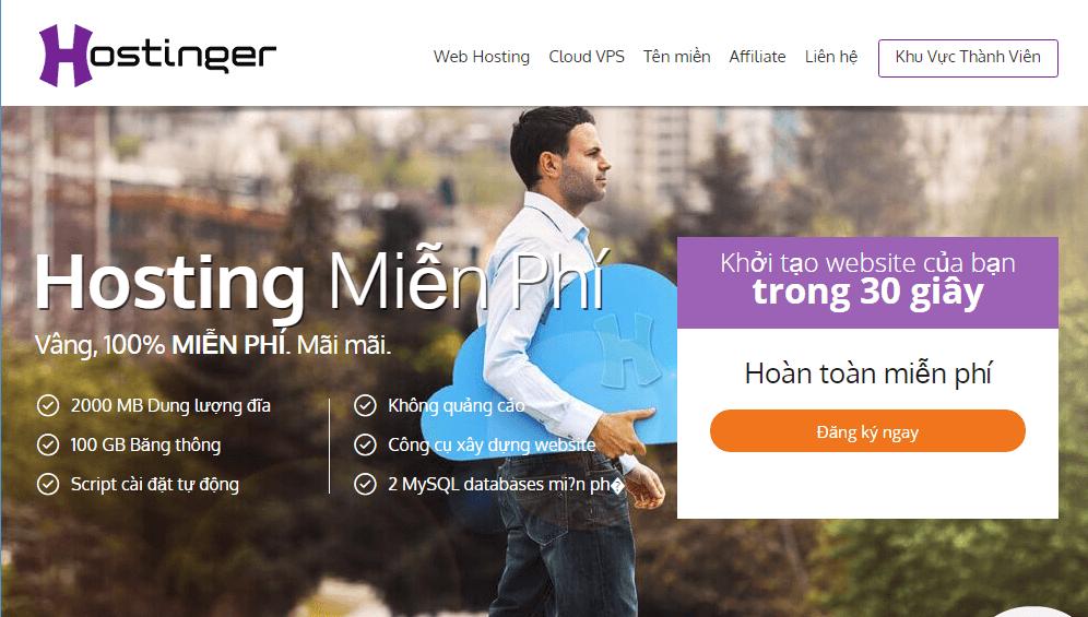 hosting miễn phí tốt nhất hostinger