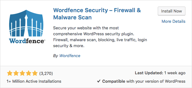 Wordfence Plugin WordPress