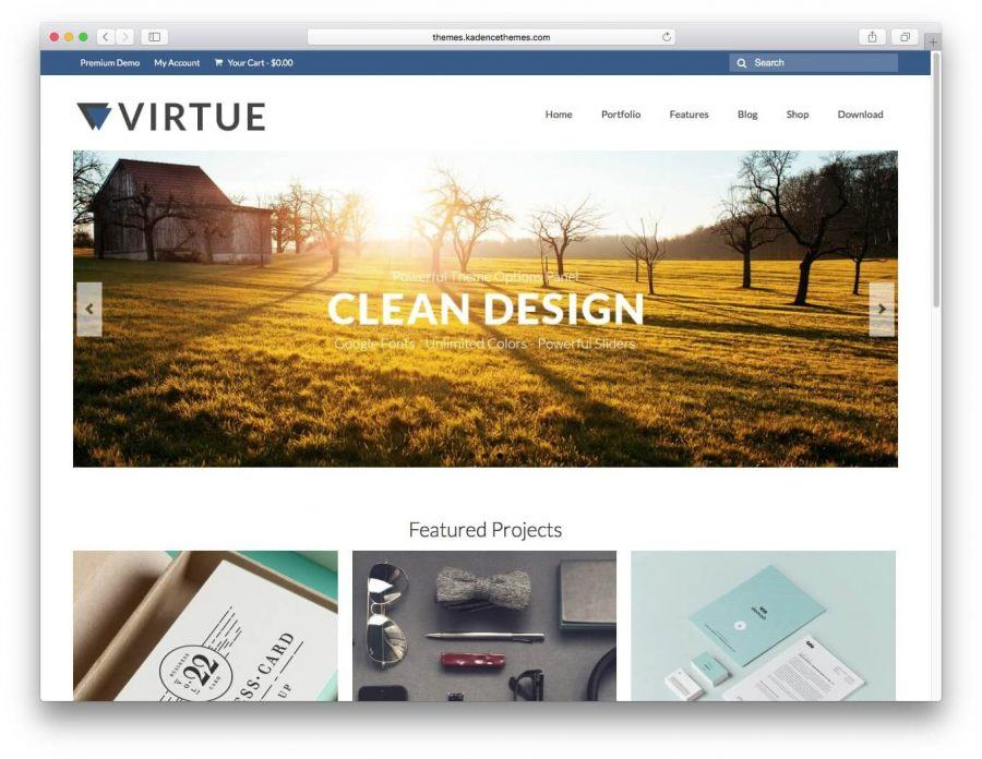 The Virtue demo page.