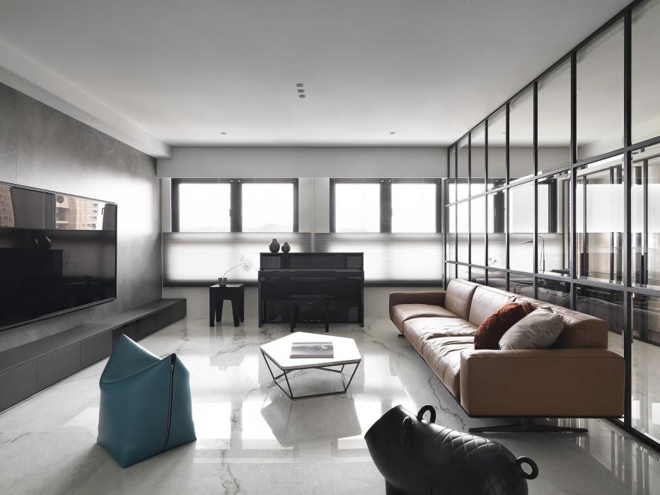 Thiết kế nội thất phòng khách diện tích 20m2, 3,6x5m theo phong cách hiện đại