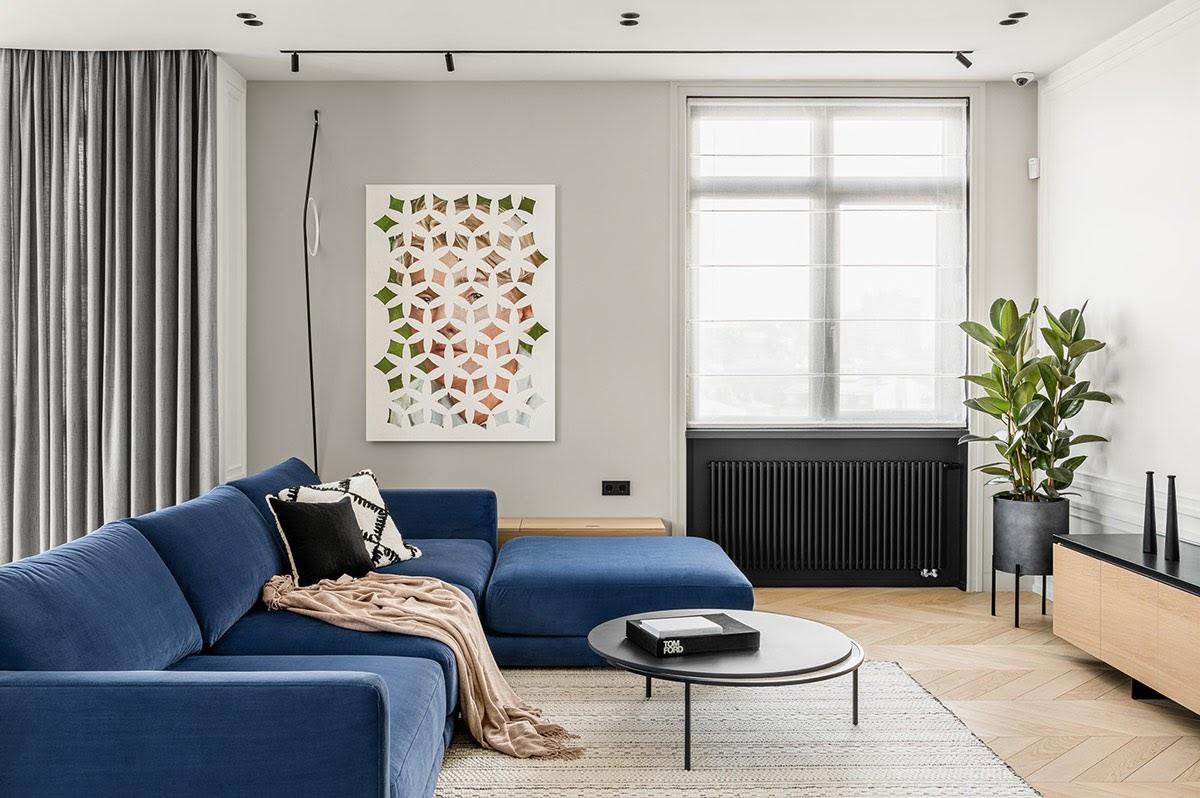 Thiết kế phòng khách 20m2 phong cách Nhật đẹp mắt