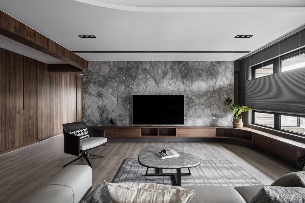 Thiết kế phòng khách 3.8x5m rộng rãi thoáng đãng cho villa