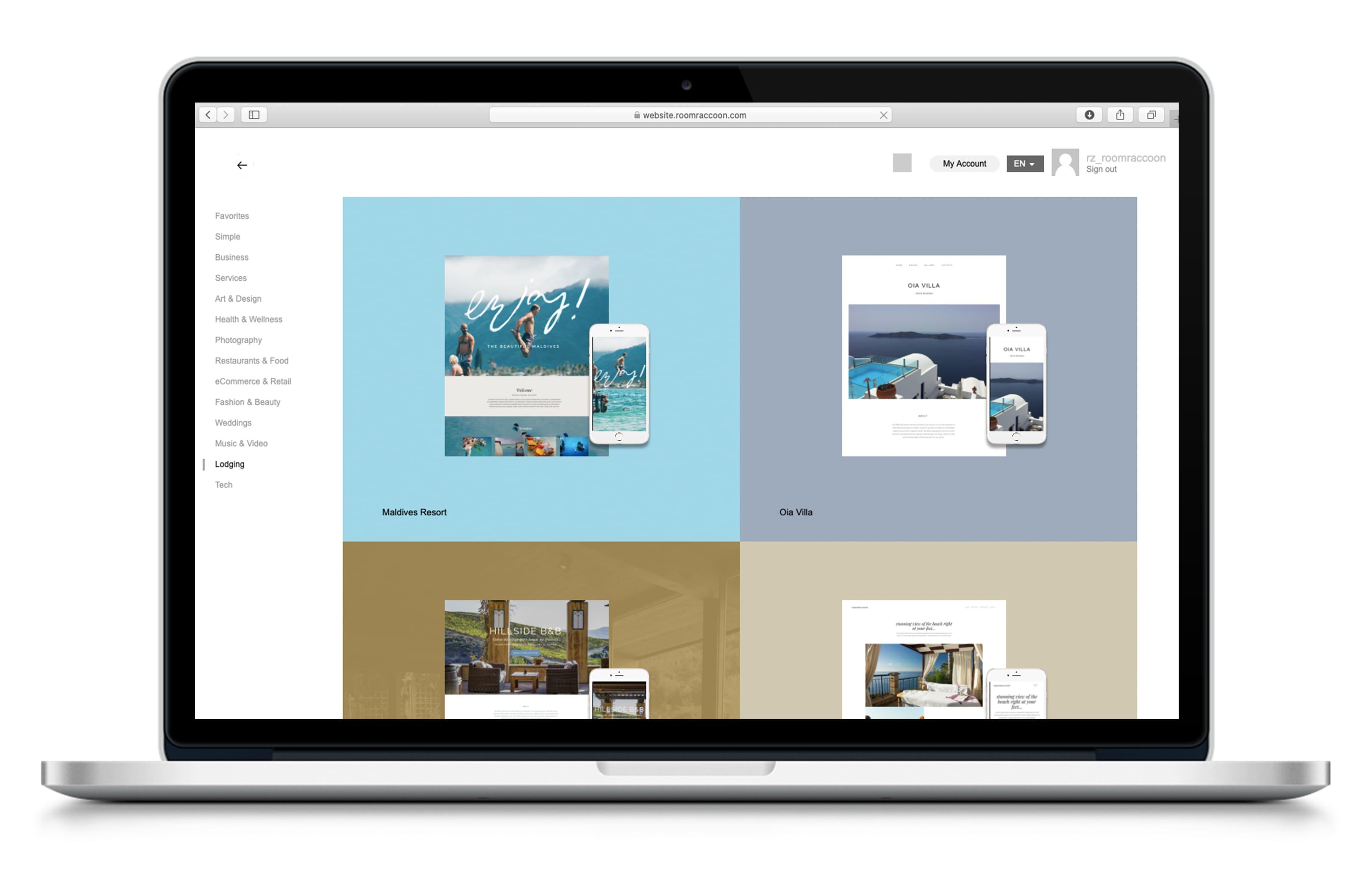 Hotel website builder - All-in-one software   RoomRaccoon